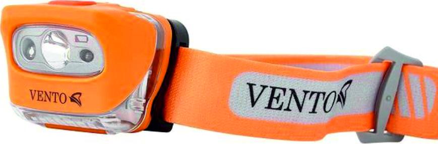 Фонарь налобный Vento Photon, светодиодный, цвет: оранжевый