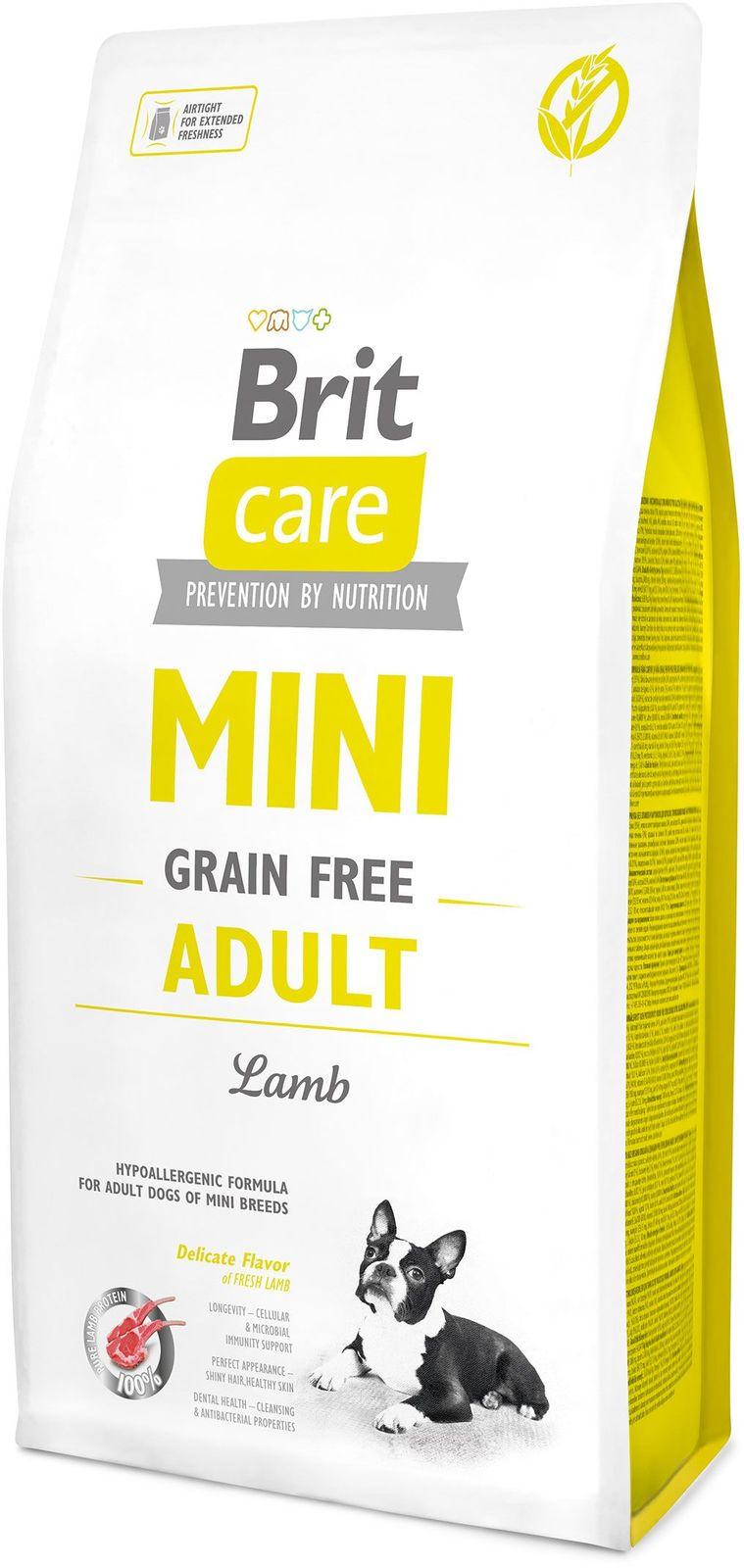 Брит 7 кг Care MINI GF Adult Lamb беззерновой корм д/мини-собак, ягненок 520121