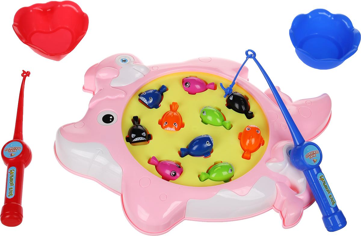 ABtoys Развивающая игрушка Рыбалка Большой улов РТ-00944РТ-00944Рыбалка Большой улов - это большой набор с удочкой, аквариумом и аксессуарами, который не даст заскучать вашему ребенку! Функции: - звуковые эффекты - при игре дети развивают двухмерное и трехмерное пространственное мышление, способность думать, развивают практические способности и дают комплексные тренировки. Дополнительно: Работает от 4 батареек тип АА, не в комплекте. Инструкция не требуется. Рекомендуем!