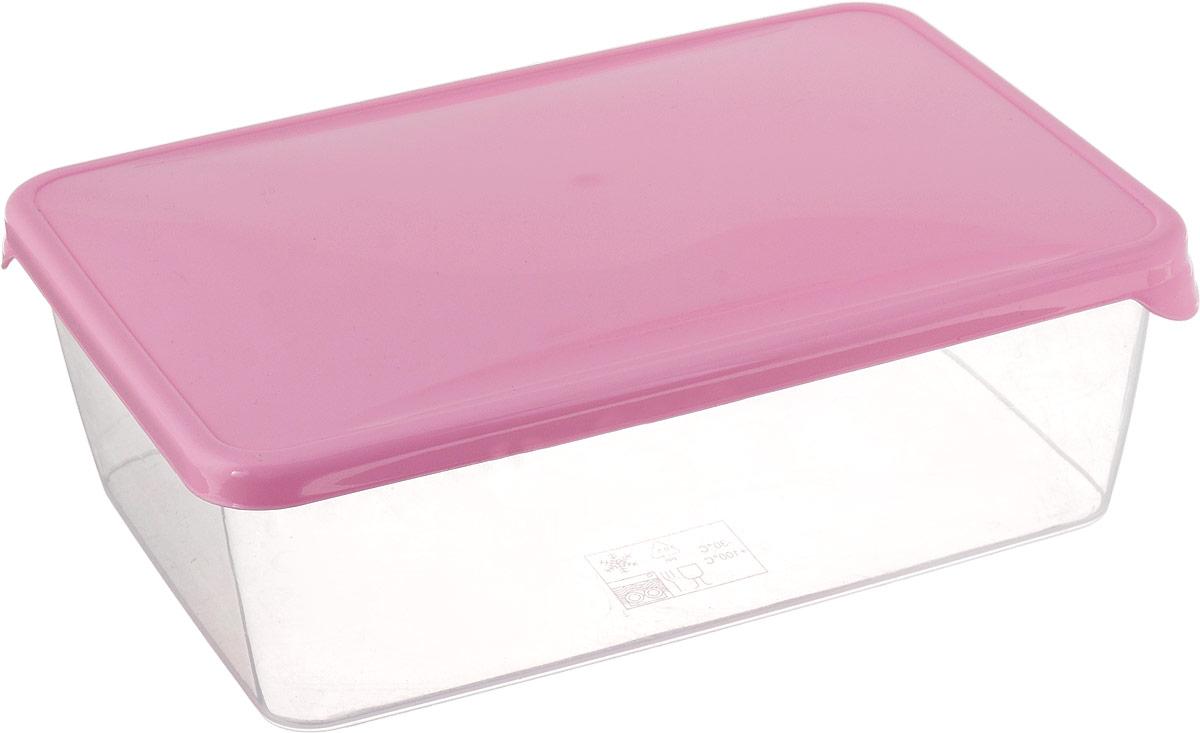Емкость для продуктов Giaretti Браво, цвет: розовый, 1,35 л емкость для продуктов giaretti браво цвет белый прозрачный 900 мл gr1068