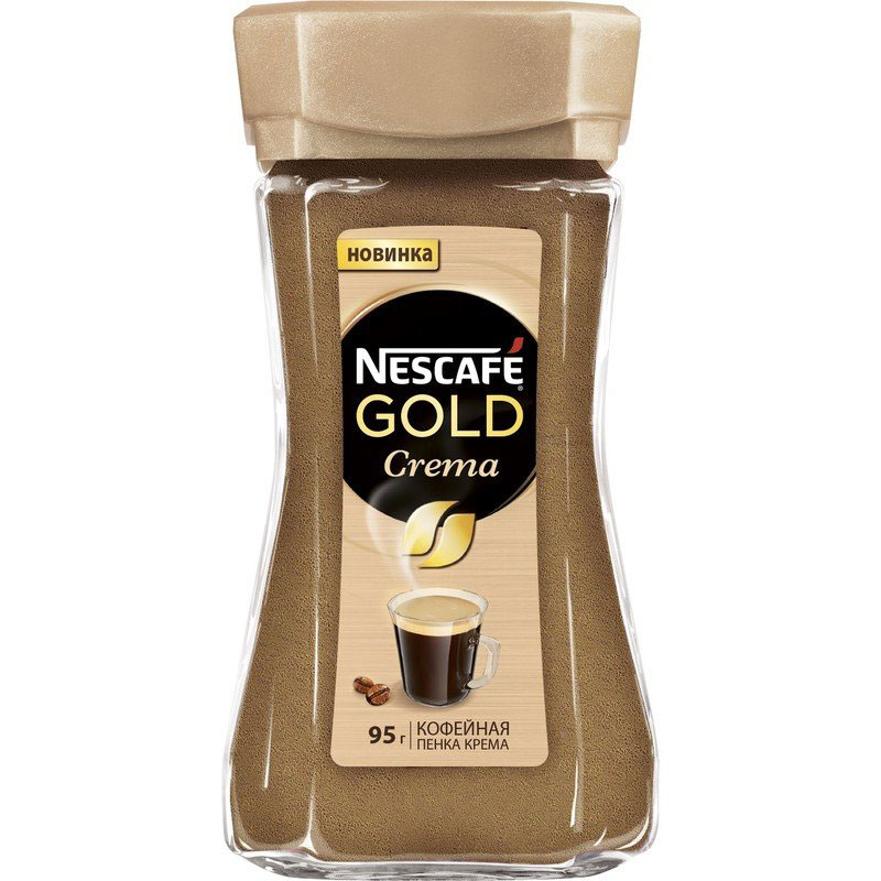 Nescafe Gold Crema кофе растворимый, 95 г nescafe classic crema кофе растворимый 70 г пакет