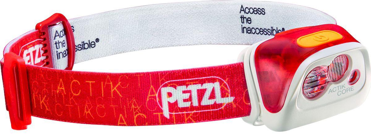 Фонарь налобный Petzl Actik Core, LED, цвет: красный