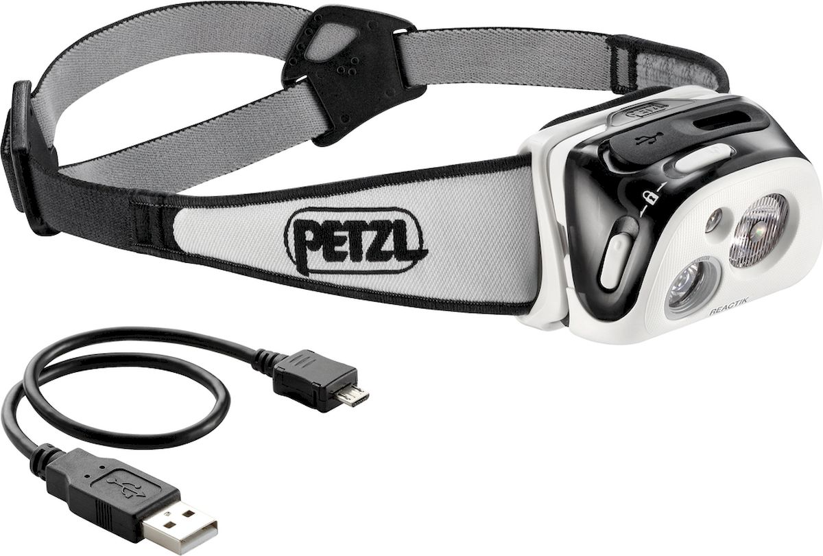 Фонарь налобный Petzl Reactik, LED, цвет: черный батарейный блок для фонарей petzl reactik reactik черный