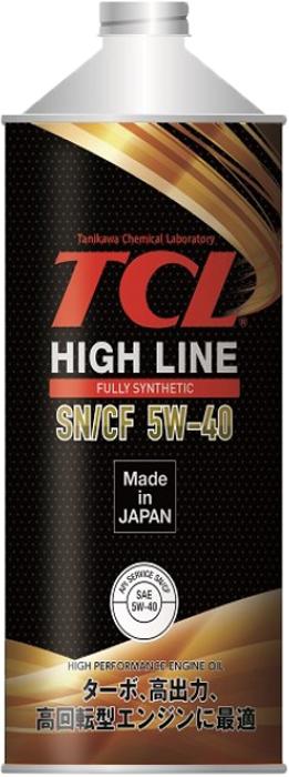 """Масло моторное TCL """"High Line"""", синтетическое, SAE 5W40, API SN/CF, 1 л"""