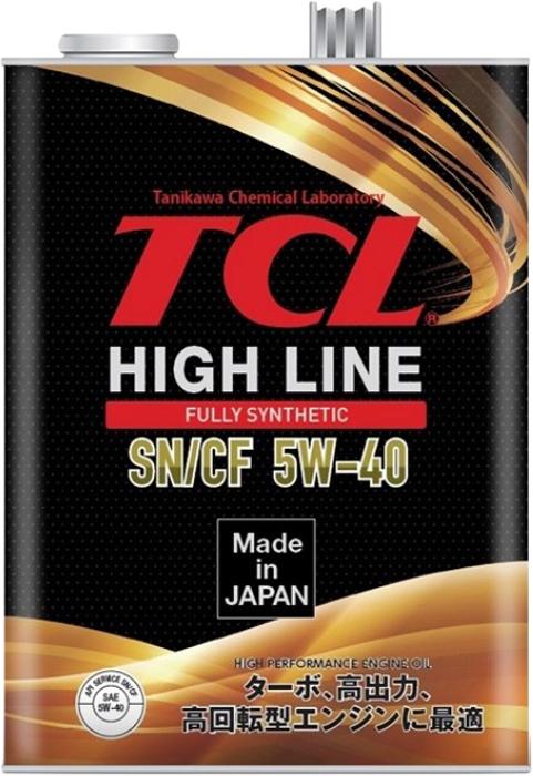 """Масло моторное TCL """"High Line"""", синтетическое, SAE 5W40, API SN/CF, 4 л"""