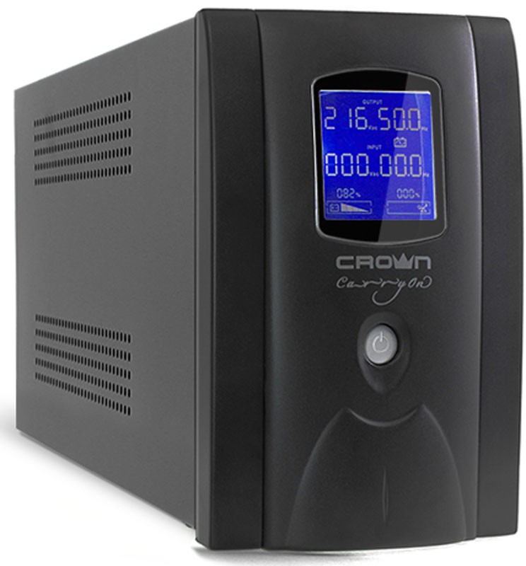 ИБП Crown Micro CMU-SP650IEC LCD USB 650VA\390W