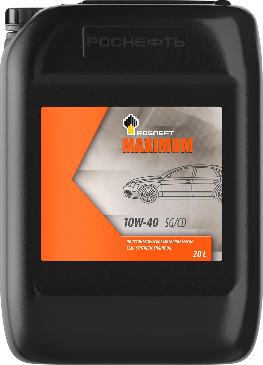 Масло моторное Роснефть Maximum, полусинтетическое, 10W-40, 20 л моторное масло роснефть 4 л 40814942