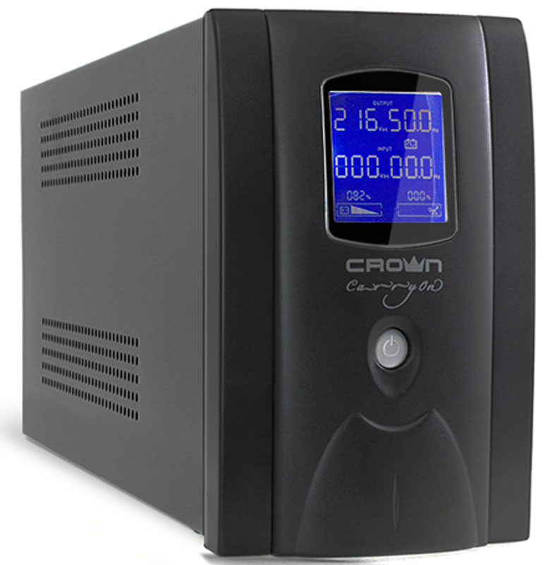 ИБП Crown Micro CMU-SP1200IEC LCD USB 1200VA\720W