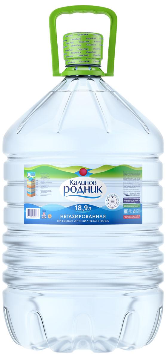 Калинов Родник Вода питьевая артезианская негазированная, 18,9 л