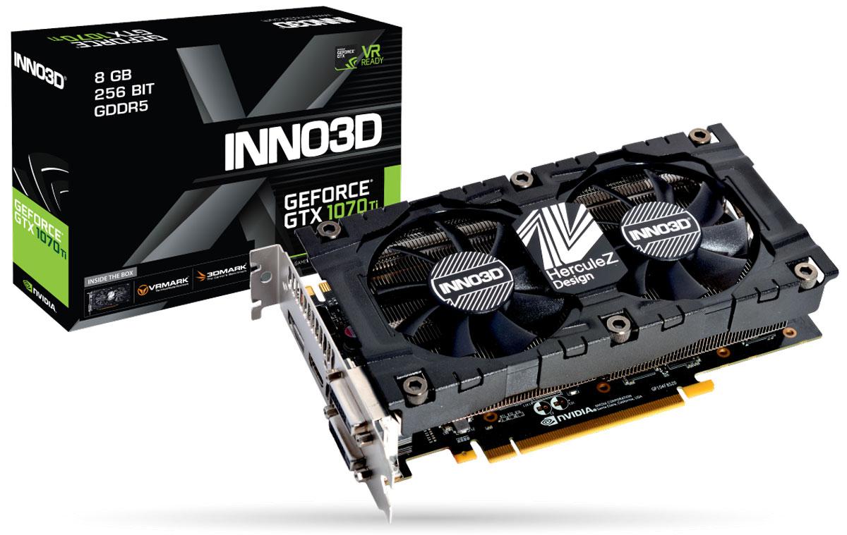 Видеокарта nVidia GeForce GTX1070 Ti Inno3D Twin X2 PCI-E 8192Mb, 107T-2SDN-P5DS цена в Москве и Питере