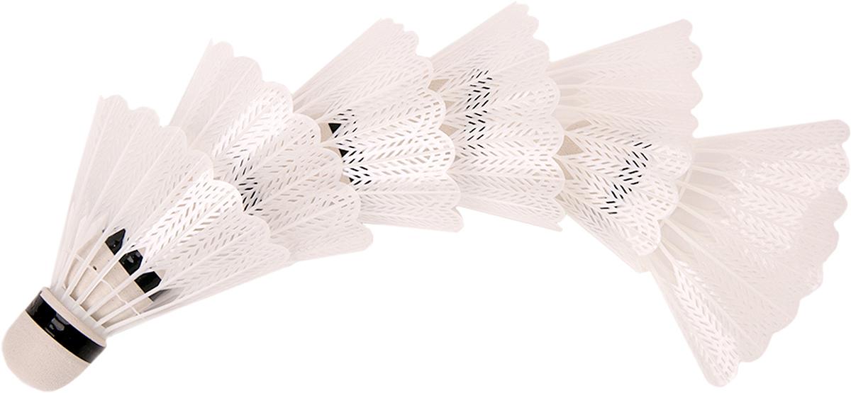 Набор воланов для бадминтона Magic Home, цвет: белый, 6 шт