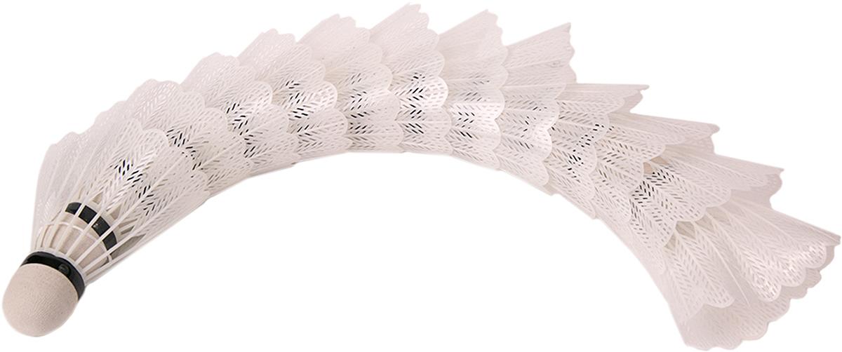 Набор воланов для бадминтона Magic Home, цвет: белый, 12 шт