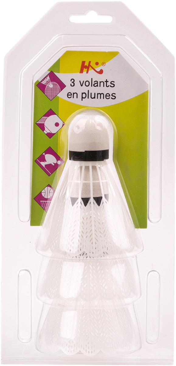 Набор воланов для бадминтона Magic Home, цвет: белый, 3 шт. 45042
