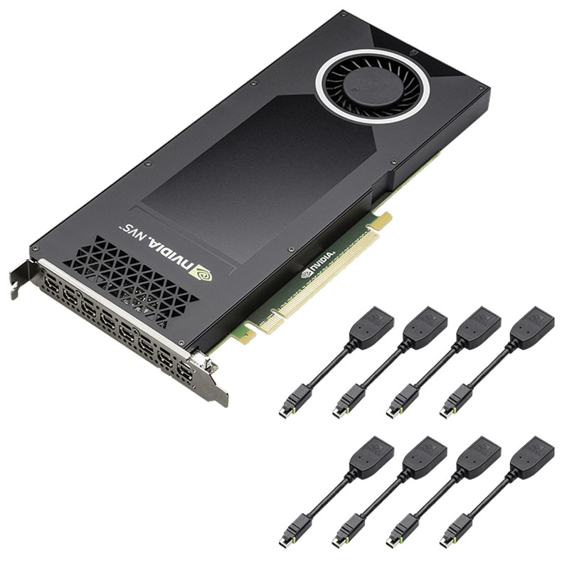 Видеокарта PNY NVIDIA Quadro NVS 810 4GB, VCNVS810DP-PB