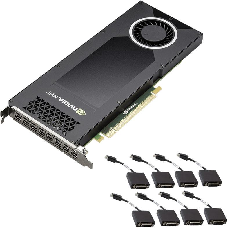 Видеокарта PNY NVIDIA Quadro NVS 810 4GB, VCNVS810DVI-PB