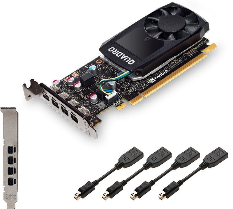 Видеокарта PNY NVIDIA Quadro P600 2GB, VCQP600-PB quadro p600