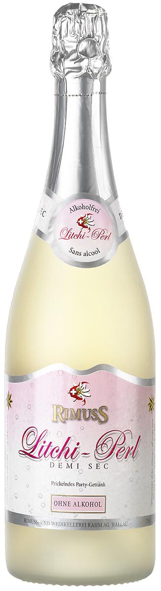 Rimuss Litchi Perl Шампанское полусухое безалкогольное, 0,75 л rimuss secco шампанское полусухое безалкогольное 0 75 л