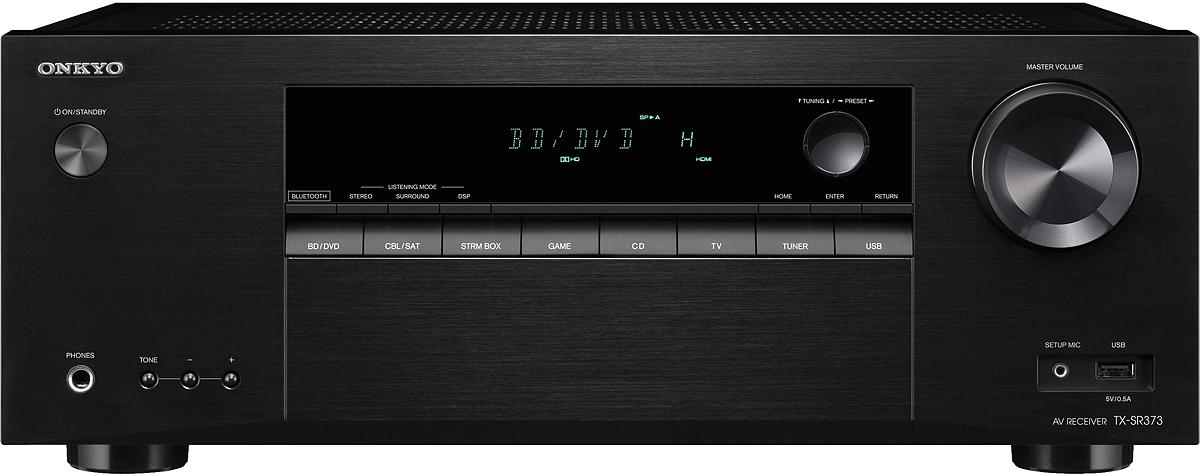 Onkyo TX-SR 373, Black AV-ресивер стереоресивер onkyo tx 8250 silver