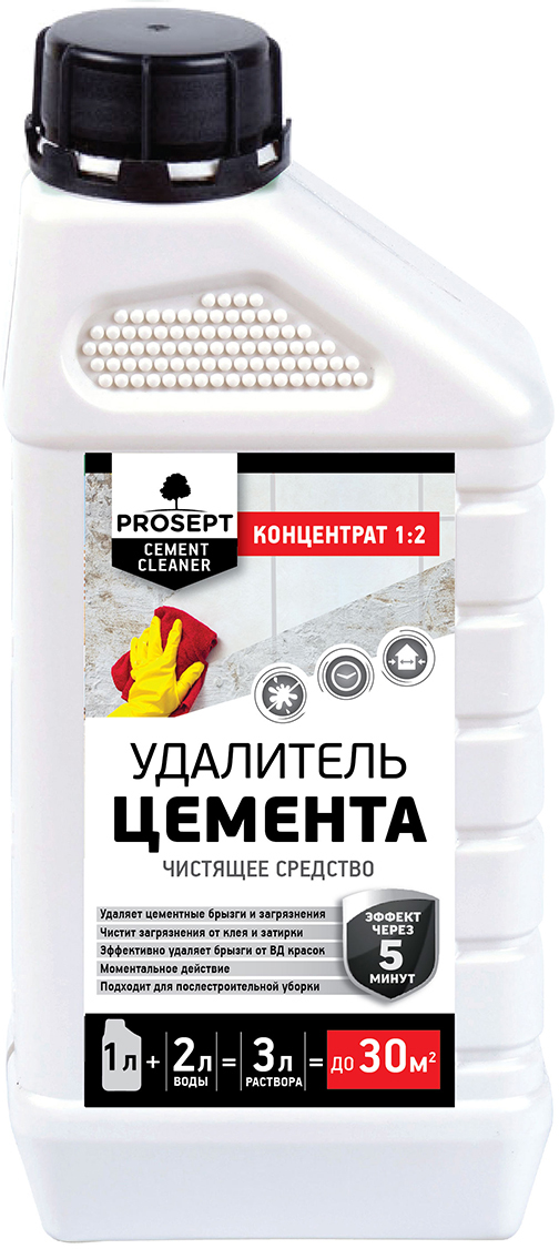 Удалитель цемента Prosept Cement Cleaner, 1:2, 1 л