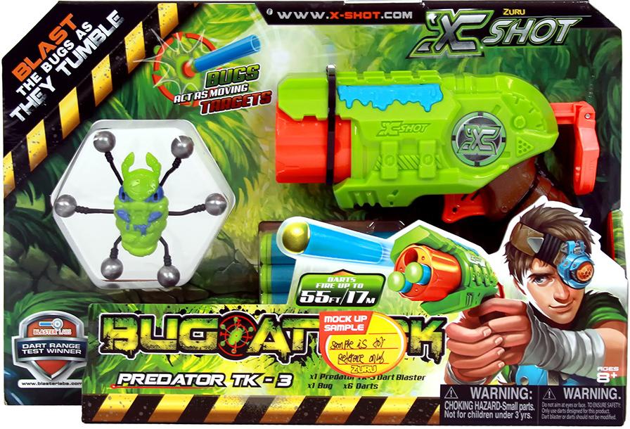 X-Shot Микро Бластер с мишенями Атака пауков игрушечное оружие zuru x shot ружье с мишенями атака пауков