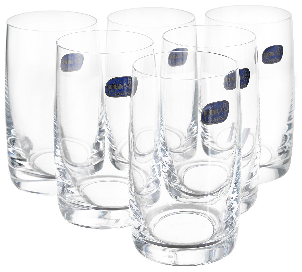 Набор стаканов для воды Bohemia Crystall Идеал, 250 мл, 6 шт бокалы злата bohemia crystall