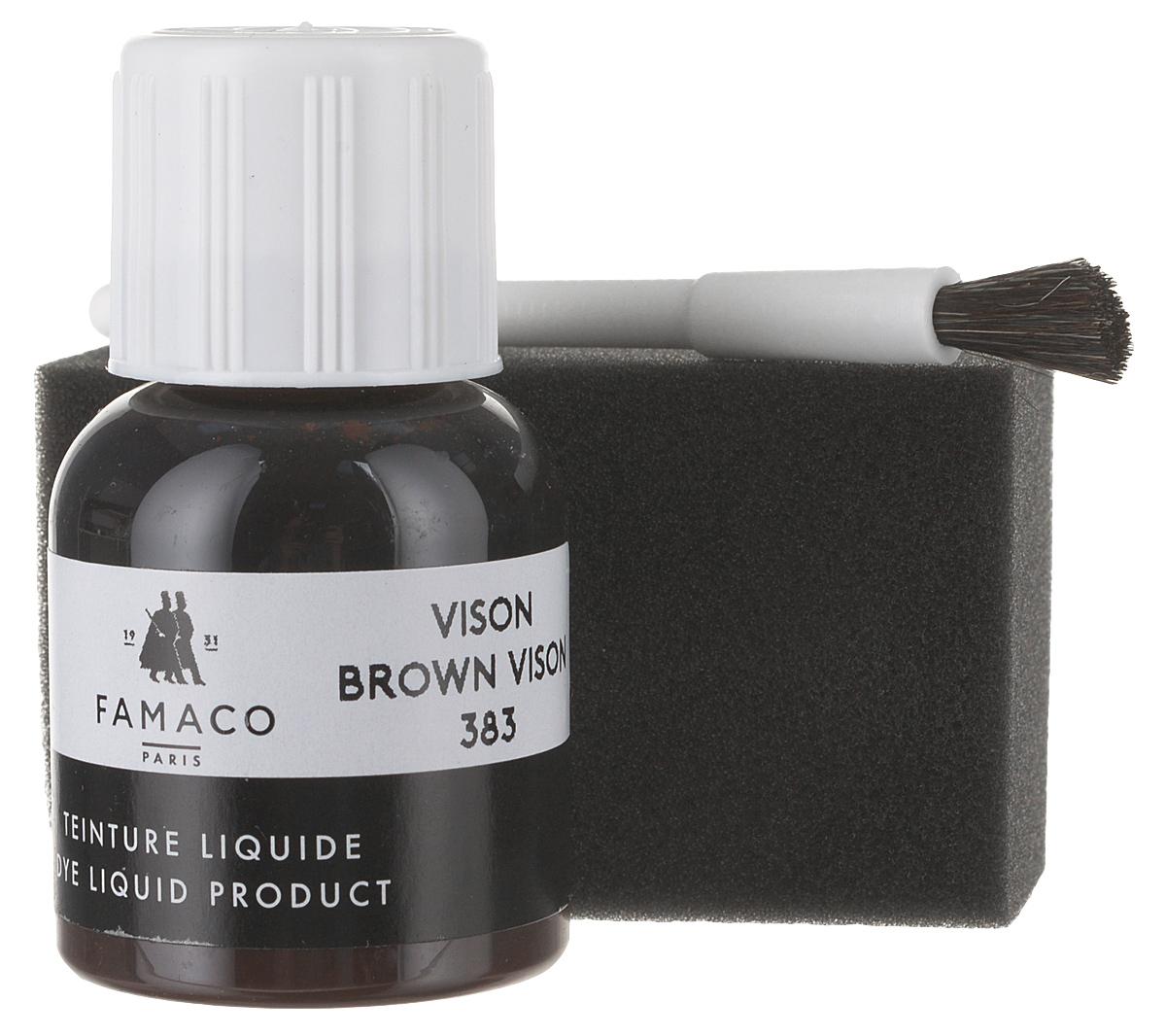 все цены на Жидкий краситель для кожи, FAMACO, темно-коричневый, 30 мл онлайн