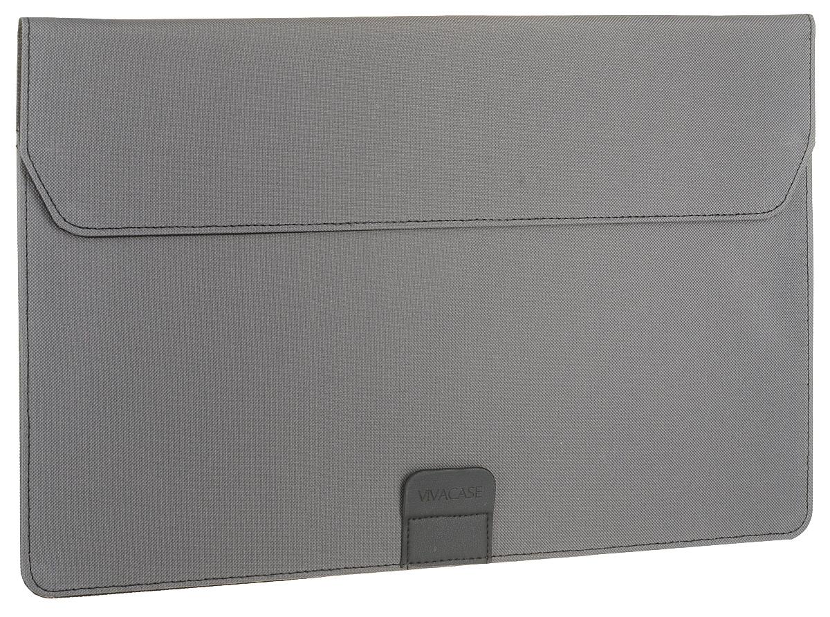 Чехол Vivacase Business для Apple MacBook Air 15-16, VCN-FBS160-gr, grey vivacase event grey чехол для ноутбуков 15 16