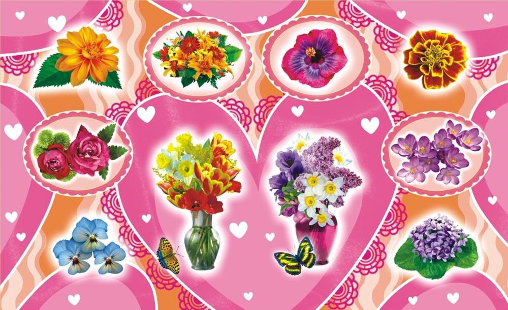ЛиС Наклейки Цветы НГ-1554 лис наклейки джипы нг 1543
