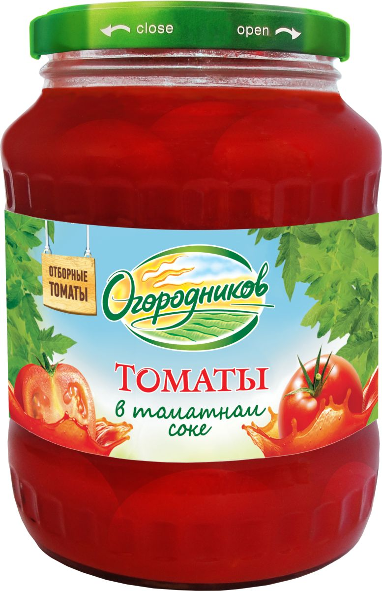 Огородников Томаты в томатном соусе, 670 г бычки аквамарин в томатном соусе 240 г