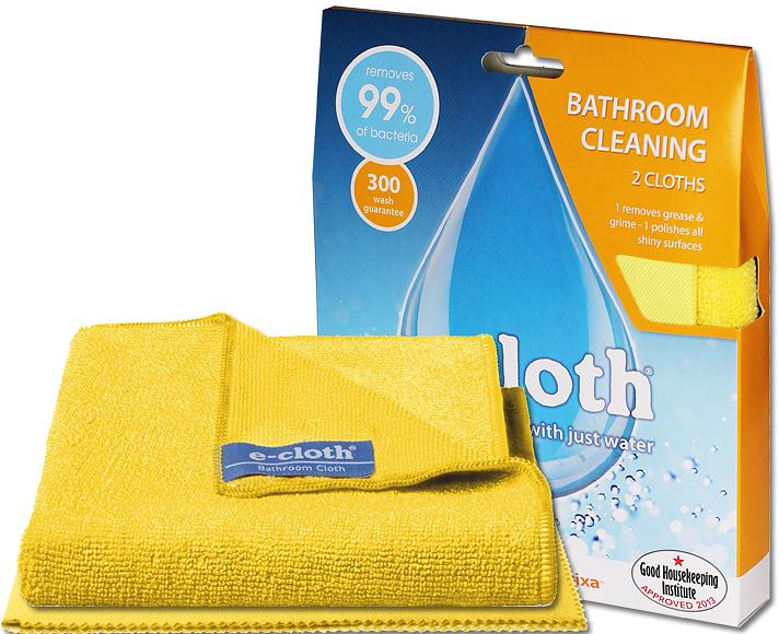 Набор салфеток E-cloth для уборки ванной, цвет: желтый, 2 шт. 20114 салфетка clean cloth уборки кухни пыли посуды желтый зеленый розовый