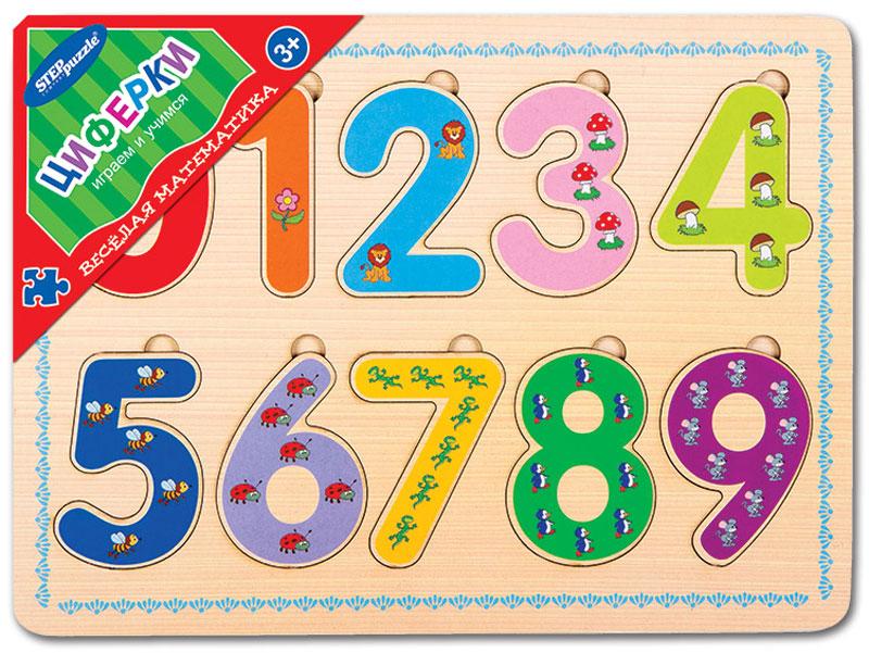 цена на Step Puzzle Обучающая игра Веселая математика Циферки