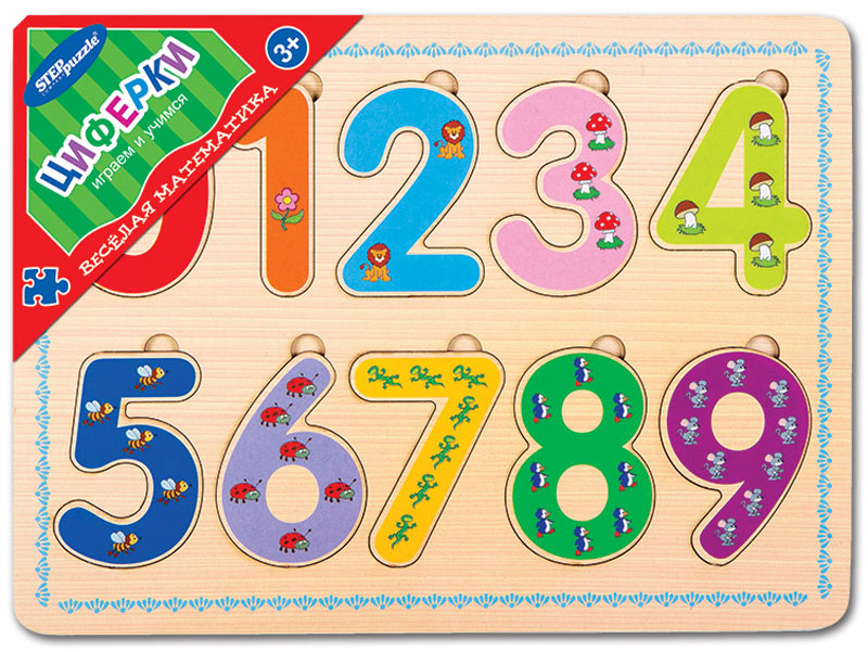 Step Puzzle Обучающая игра Веселая математика Циферки step puzzle обучающая игра азбука
