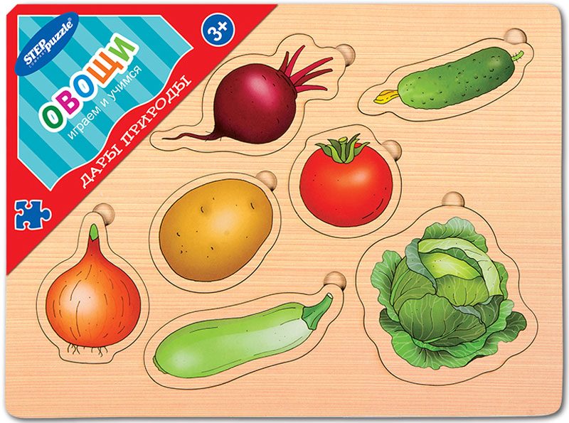 цена на Step Puzzle Обучающая игра Дары природы Овощи