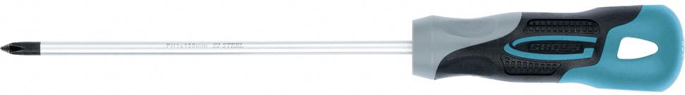 Отвертка Gross, 3-компонентная рукоятка, PH1 x 150 мм