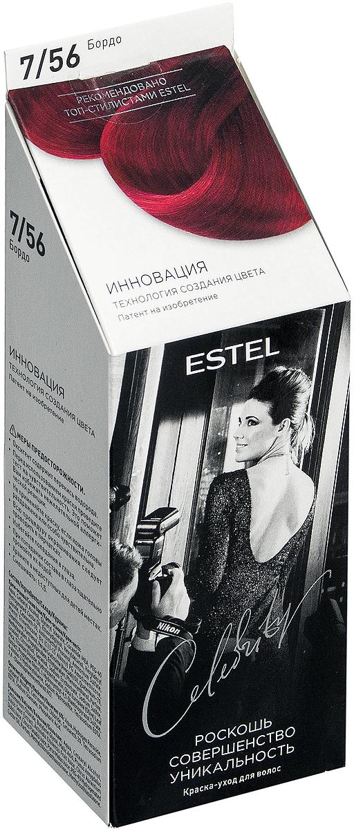 Краска-уход для волос Estel Celebrity тон бордо CL 7/56M Estel Professional