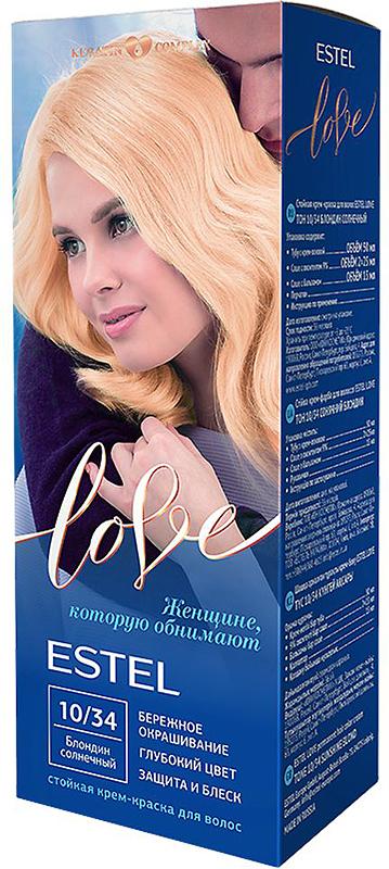 Стойкая крем-краска для волос Estel Love тон 10/34 Блондин солнечный EL10/34EL10-34Мягкое воздействие на структуру волос. Масло иланг-иланга и пчелиный воск гарантируют качественный уход, равномерное нанесение и 100% закрашивание седины. В результате волосы приобретают жизненную силу и глубокий цвет.