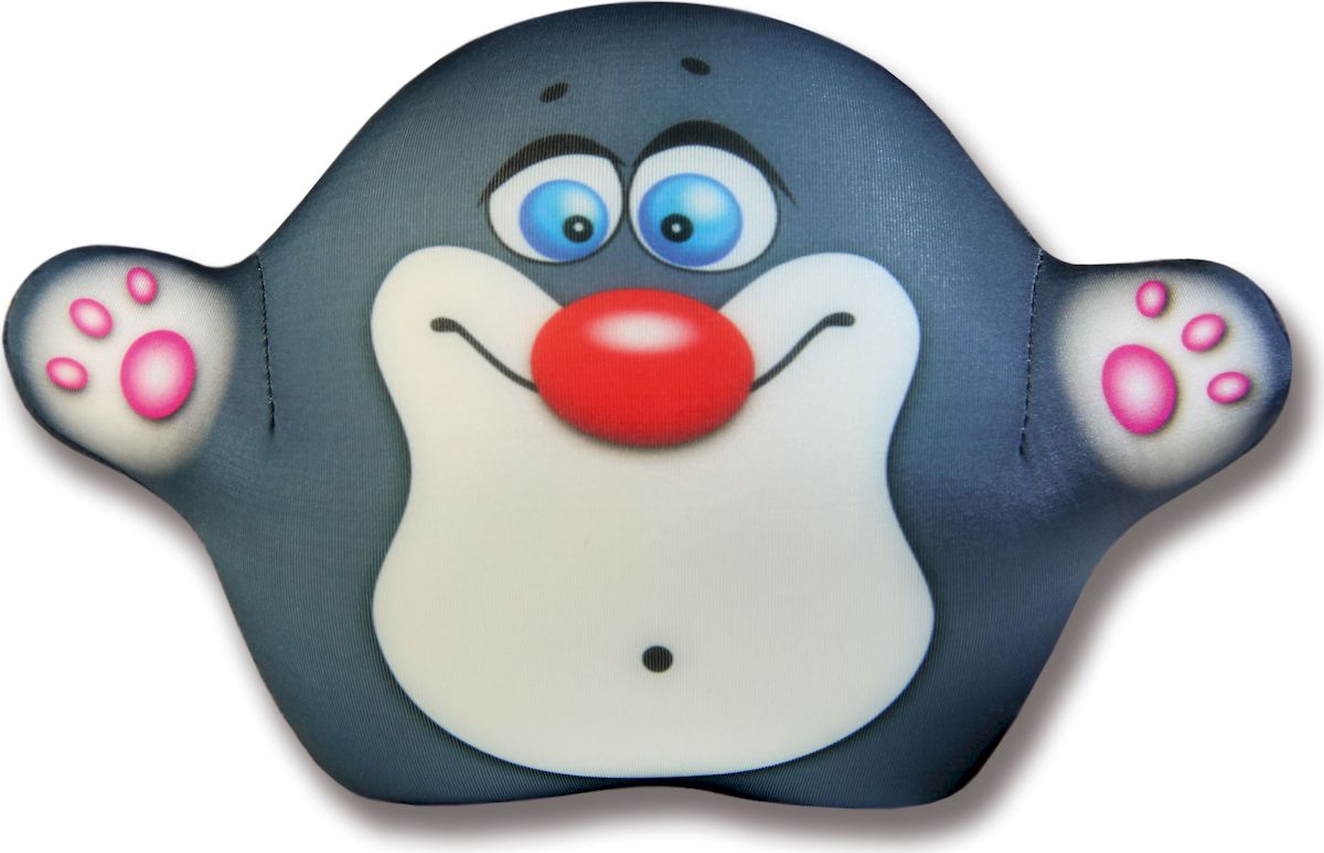 Игрушка для ванной Штучки, к которым тянутся ручки антистрессовая Аква крошки. Крот серый