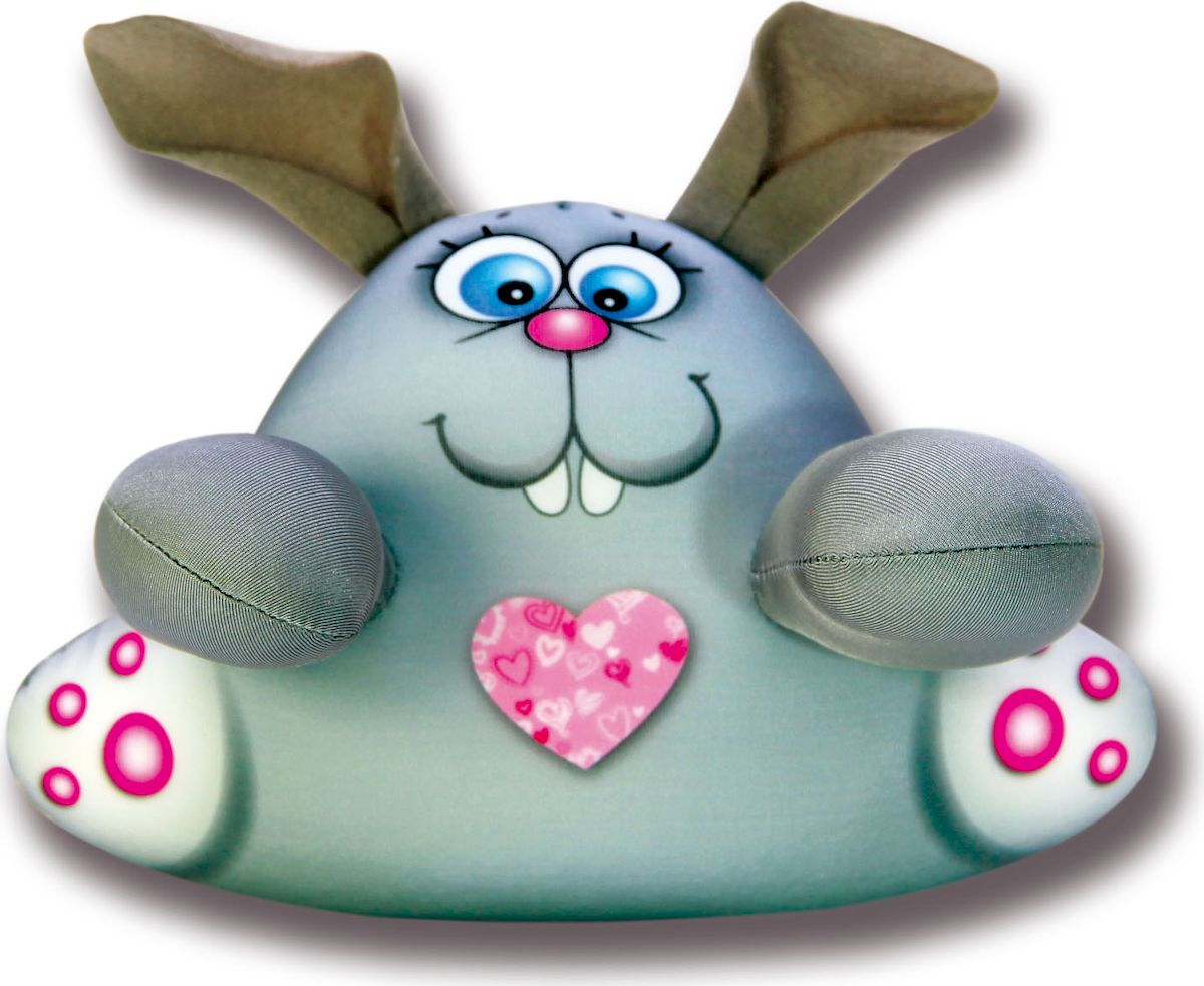 Игрушка для ванной Штучки, к которым тянутся ручки антистрессовая Аква крошки. Заяц серый