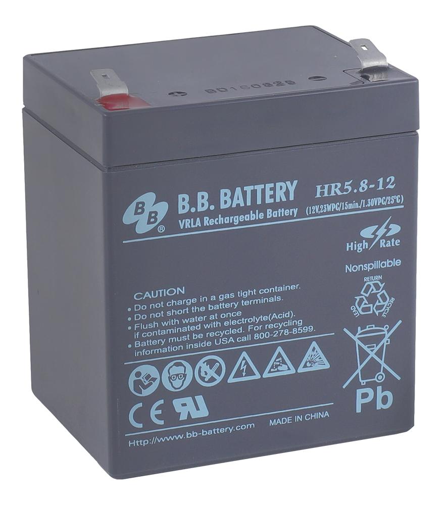 Батарея для ИБП B.B.Battery HR 5.8-12