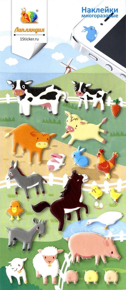Липляндия Набор наклеек Животные 4