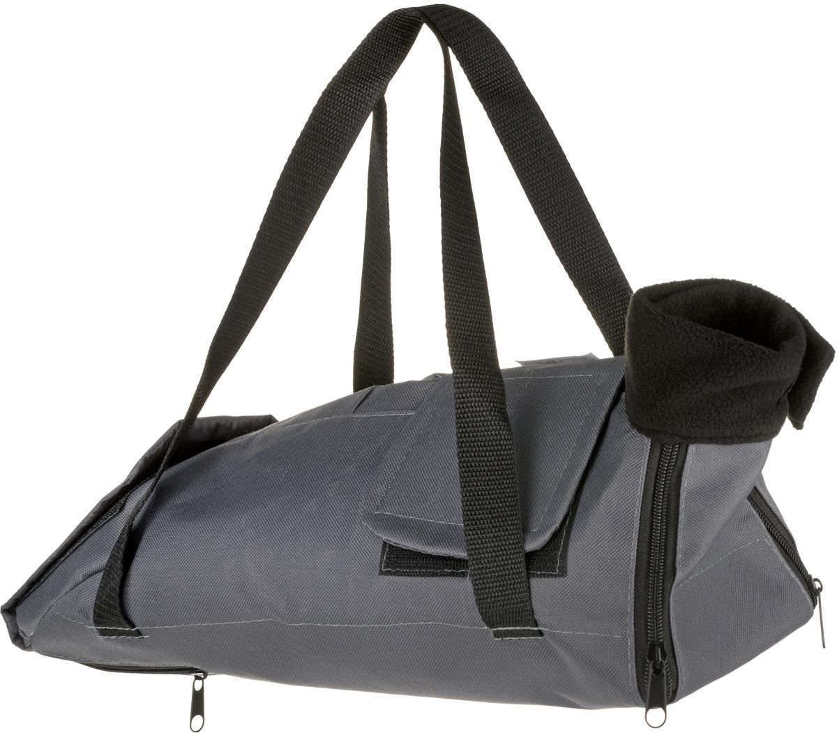 Сумка-фиксатор для кошек OSSO Fashion, цвет: серый. Размер S цена