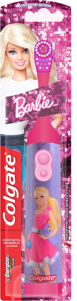 Colgate Электрическая зубная щетка Barbie с мягкой щетиной цвет розовый colgate зубная щетка зигзаг с древесным углем средняя жесткость цвет черный розовый