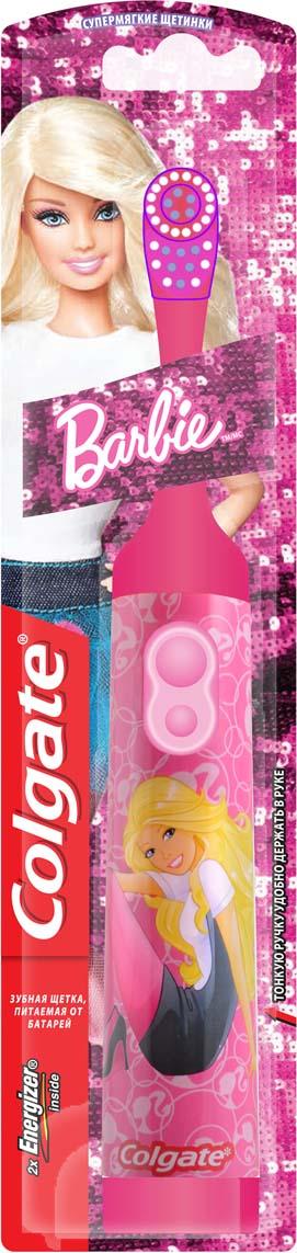 Colgate Зубная щетка Barbie, электрическая, с мягкой щетиной, цвет: розовый colgate зубная щетка spider man детская с мягкой щетиной цвет синий красный page 2