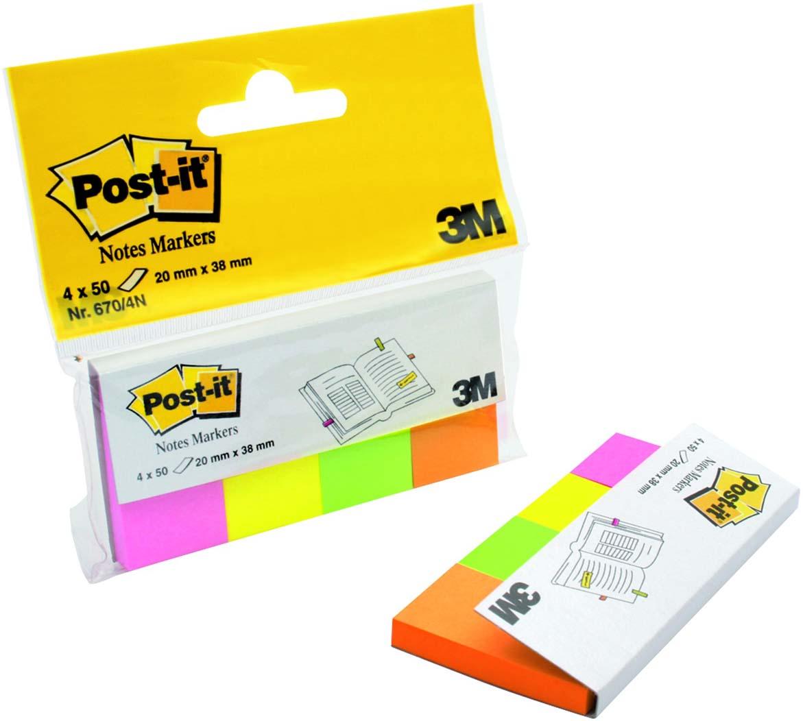 Закладки самоклеящиеся Post-it index, 200 шт закладки самоклеящиеся post it index 200 шт