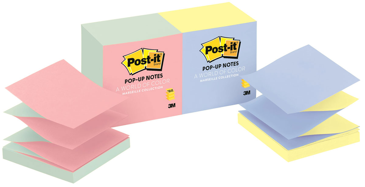 Бумага для заметок Post-it, с липким слоем, 1200 листов клейкая бумага для заметок post it basic 345936 3 8 х 5 1 см 12 блоков по 100 листов