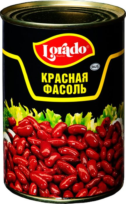Lorado Фасоль красная, 425 мл фасоль красная натуральная фрау марта 310 г