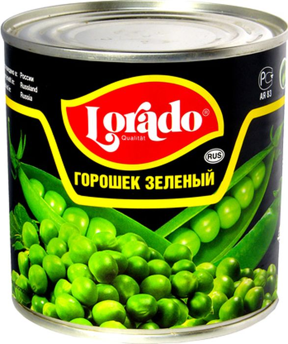 Lorado Горошек зеленый высший сорт ГОСТ, 425 мл казачьи разносолы горошек зеленый мозговых сортов 425 г