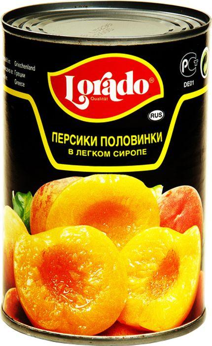 Lorado Персики половинки в легком сиропе, 425 мл mikado мандарины дольками в сиропе 425 мл