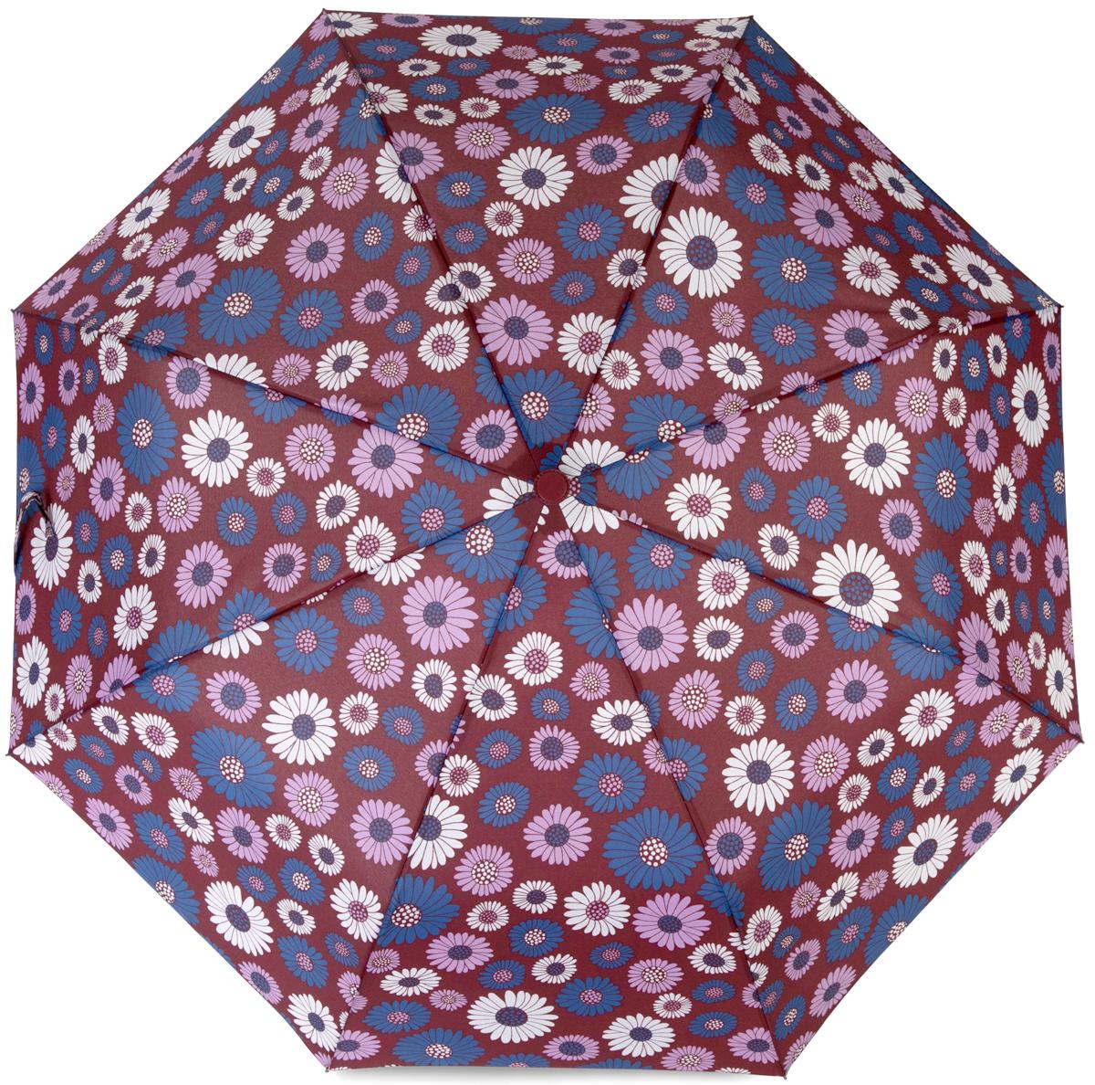 Зонт женский Baudet, полуавтомат, 3 сложения, цвет: бордовый. 10598-4 цены онлайн