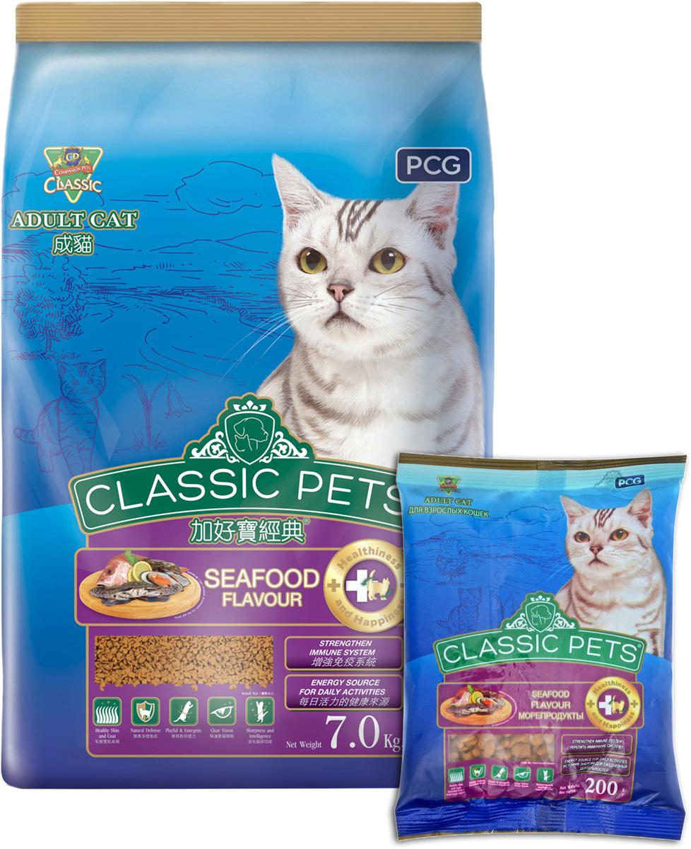 """Корм сухой для кошек PCG """"Классик"""", морепродукты, 200 г, 35 шт"""
